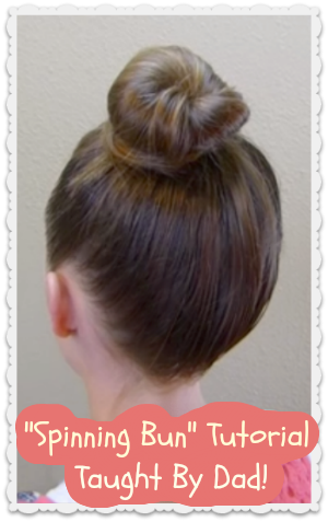 How to make a spinning bun tutorial by a dad