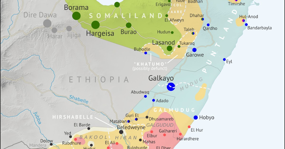 Somalia Control Map & Timeline - August 2019 - Political ...