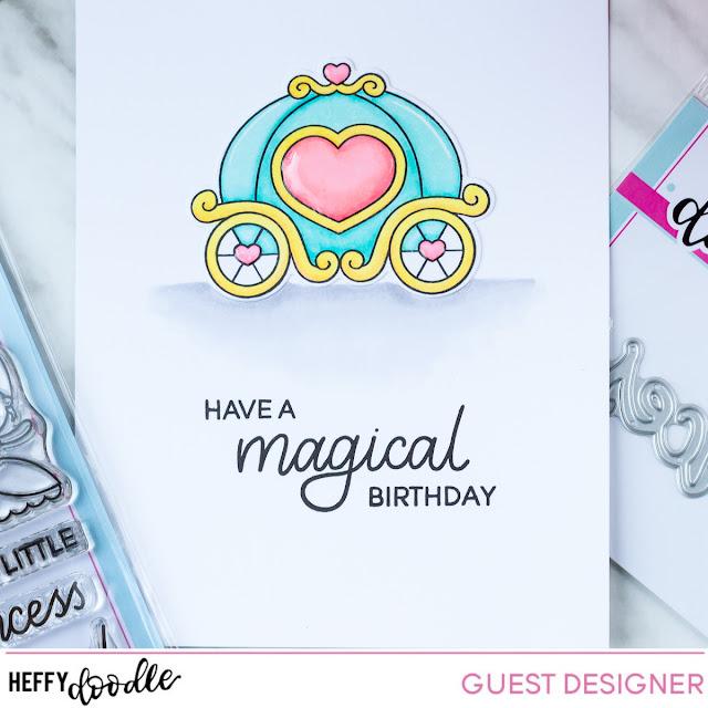 Princess Spinner Card for Heffy Friends Blog Hop by ilovedoingallthingscrafty.com