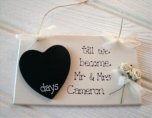 Gifts-r-us.com: Wedding Countdown Plaques