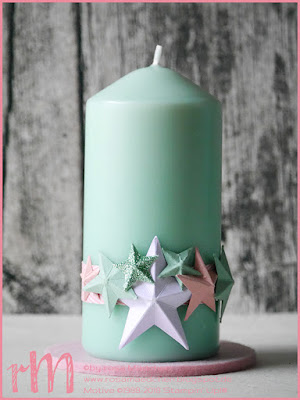 Stampin' Up! rosa Mädchen Kulmbach: Stamp Impressions Blog Hop: Only 5 days till Chrismas - Christmas Decorations - Kerze mit 3D Sternen