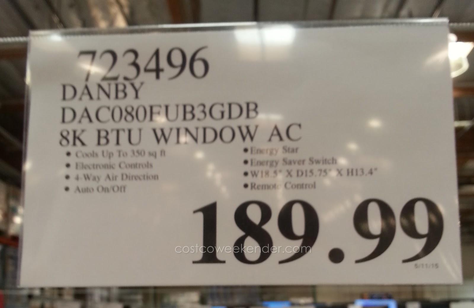 Danby Dac080eub3gdb Window Air Conditioner 8000 Btu