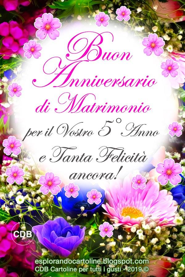 Anniversario 5 Anni Matrimonio.Cdb Cartoline Per Tutti I Gusti Cartolina Buon