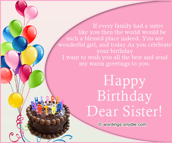 Unique Happy Birthday Wishes for My Dear Sister Latest Fashion – Unique Happy Birthday Greetings