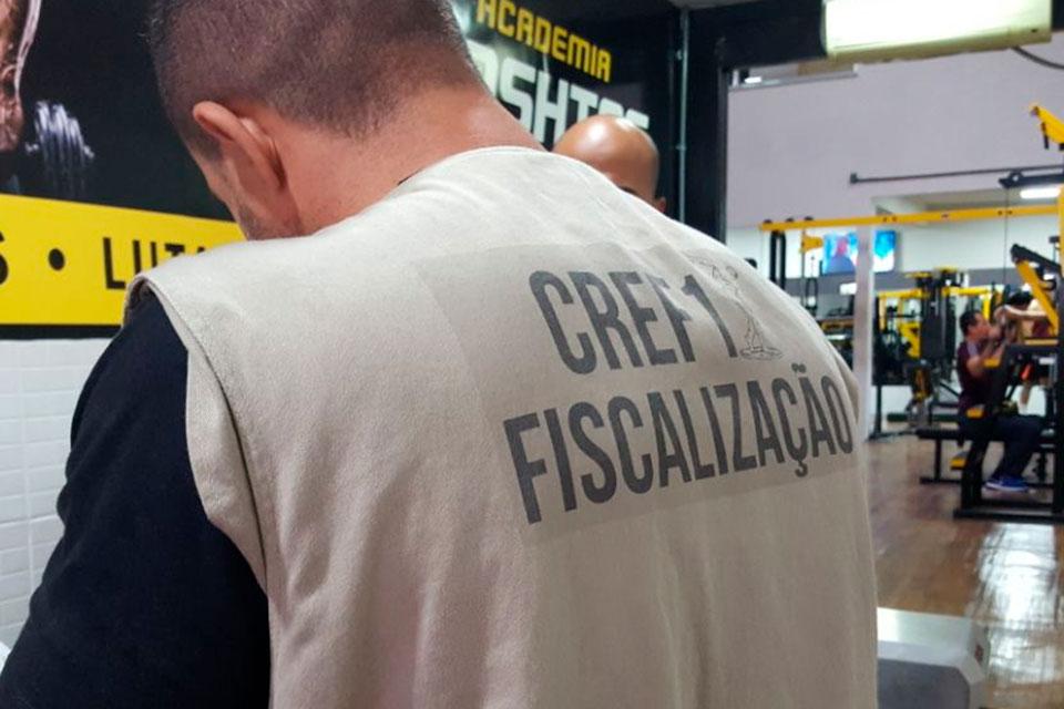 CREF1 realiza fiscalização em academia de Realengo. Foto: Divulgação