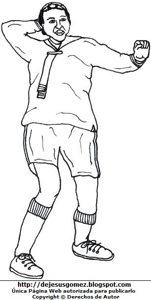 Dibujo de Kiko estirando las manos para colorear, pintar o imprimir. Imagen de Quico de Jesus Gómez