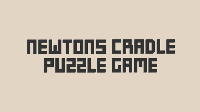 Newton's Cradle Puzzle Game v1.0 NSP XCI For Nintendo Switch