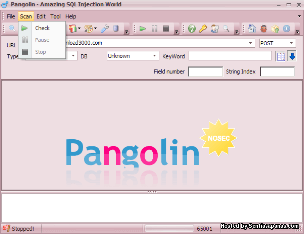 HACKER -  PANGOLIN SQL injection scanner