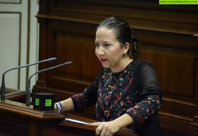 Lorena Hernández y Zacarías Gómez satisfechos por las mejoras para La Palma aprobadas ayer en el parlamento autonómico