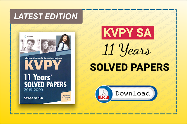 Arihant KVPY Stream SA Previous Years Solved Papers ebook pdf download link