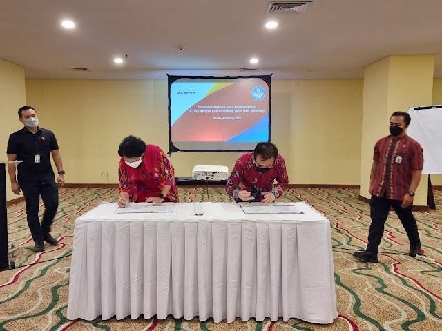 Tingkatkan Kualitas Pendidikan dan Kebudayaan Melalui TIK, Kemendikbudristek Gandeng ICON+