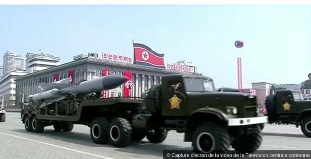 Capture d'écran de la video de la Télévision centrale coréenne