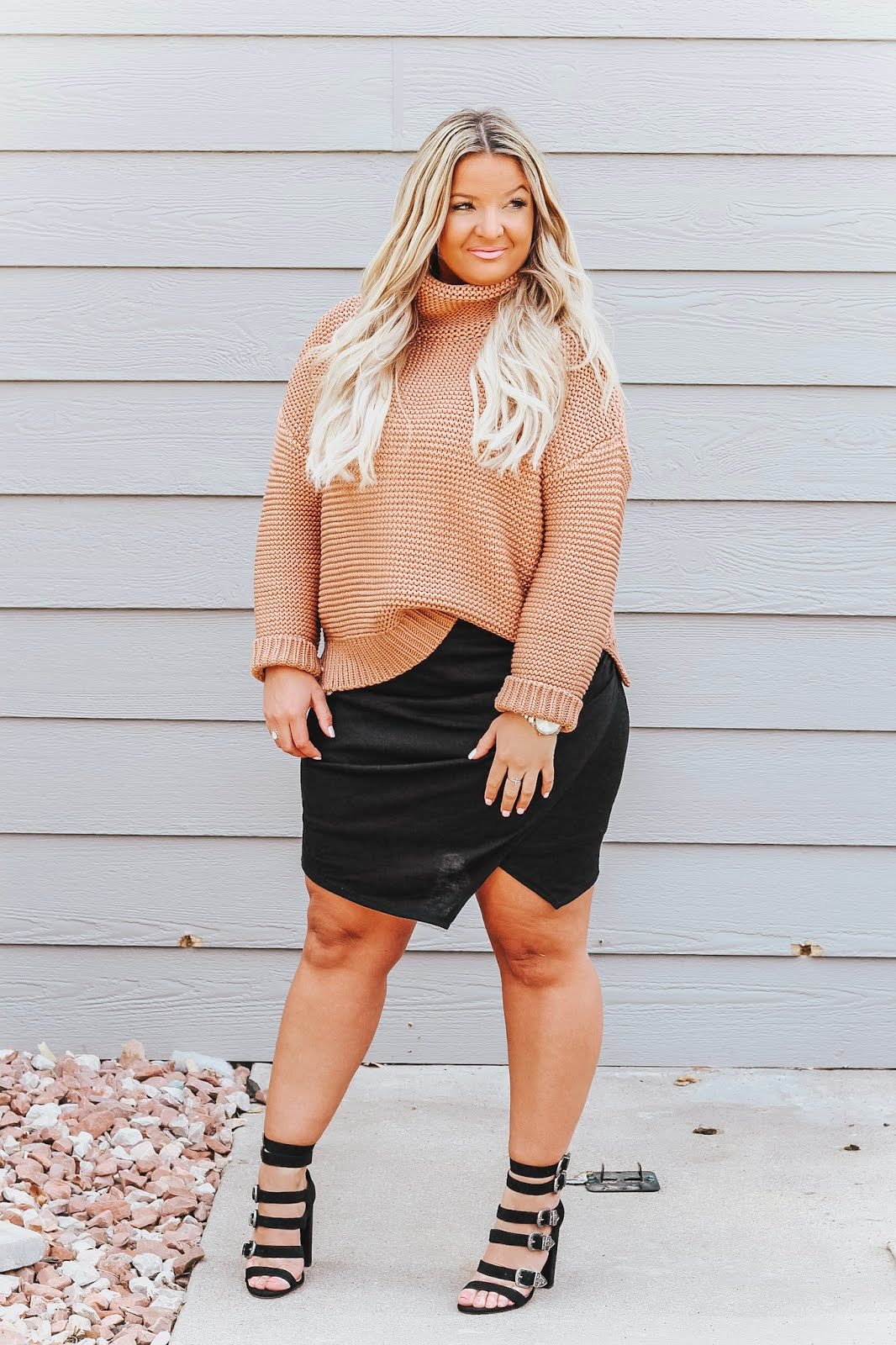 Asymmetrical Skirt styled by popular Denver fashion blogger, Delayna Denaye
