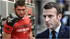 Tegas, Khabib Nurmagomedov Pecundangi Presiden Prancis Macron