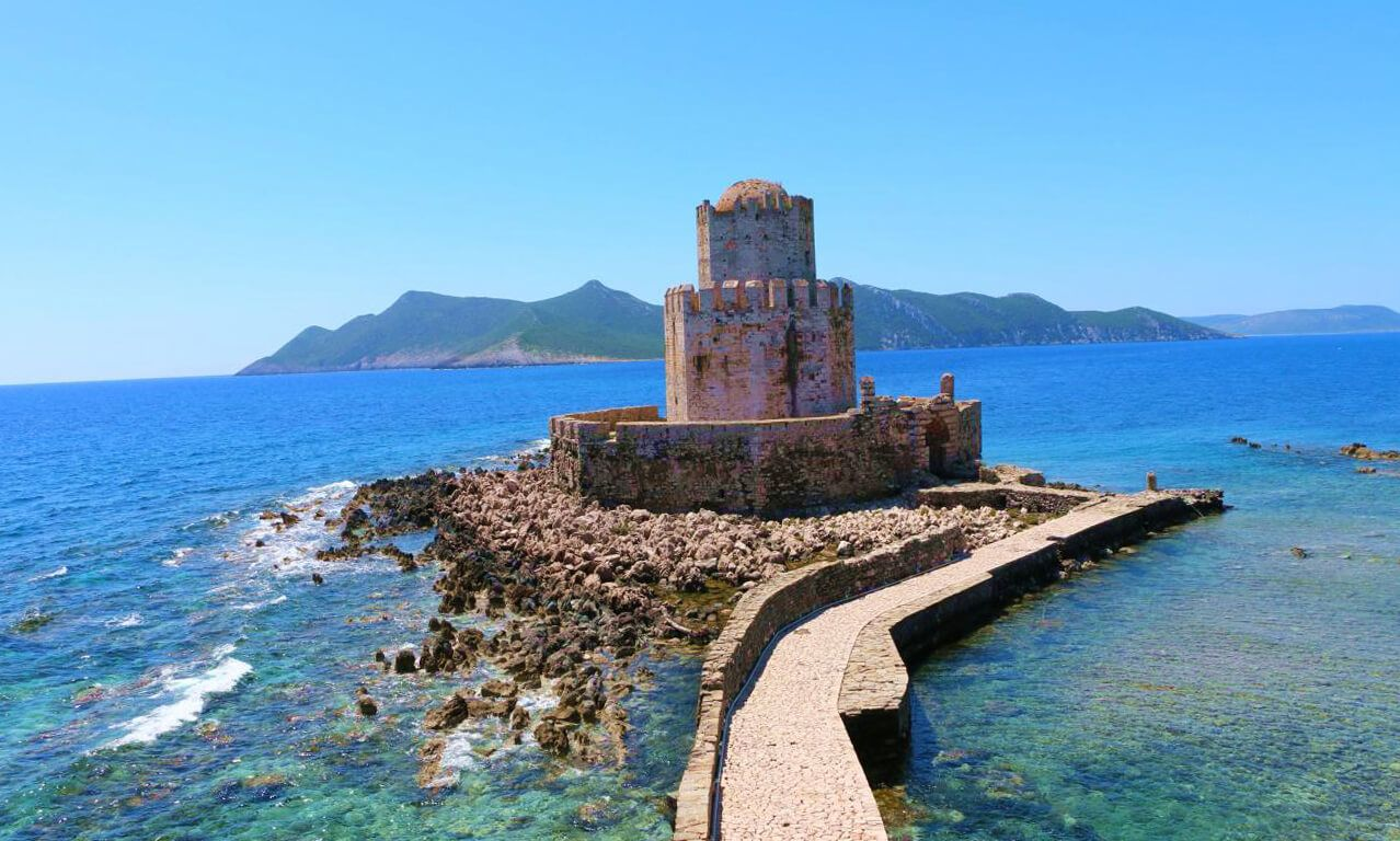 Замок Метони в Коста-Наварино в Греции