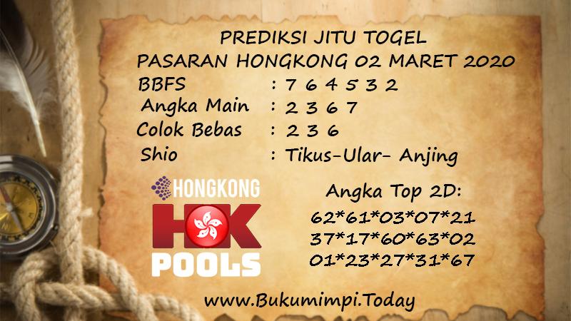Prediksi Togel JP Hongkong Senin 02 Maret 2020 - Prediksi Jitu Togel