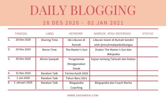 Daily Plan