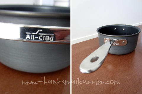 All-Clad stainless handles
