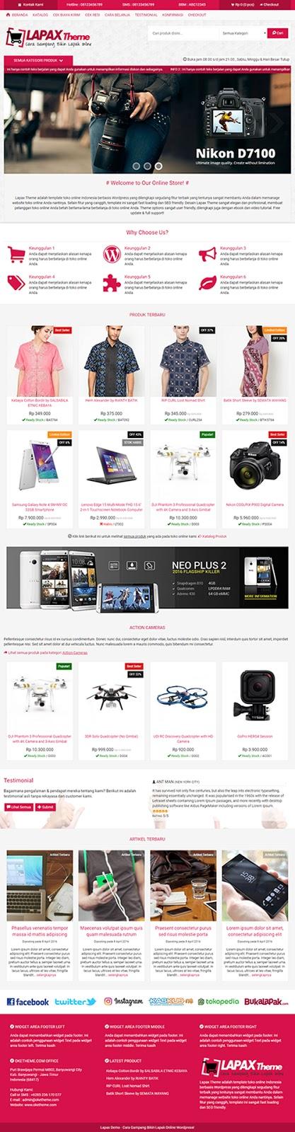 Jasa Buat Website Online Shop Premium Harga Mulai 300 Ribuan
