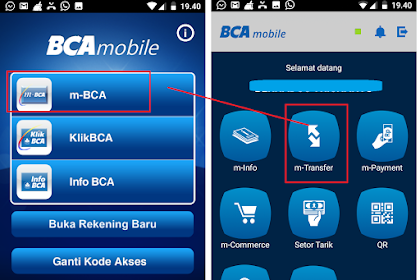 Cara Praktis Transfer Uang Lewat m-BCA baik Antar Rekening, Ke Bank Lain atau dengan Virtual Account
