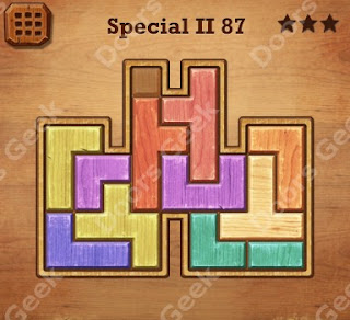 Cheats, Solutions, Walkthrough for Wood Block Puzzle Special II Level 87