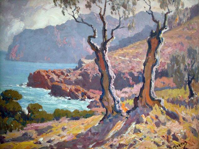 Rufino Martos Ortiz, Costa de Mallorca, Mallorca en Pintura, Mallorca pintada, Paisajes de Mallorca