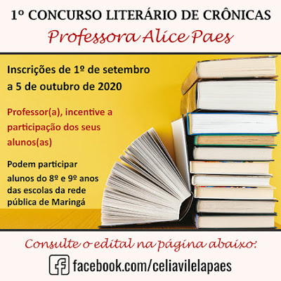 1º Concurso Literário de Crônicas Professora Alice Paes. Café com Jornalista