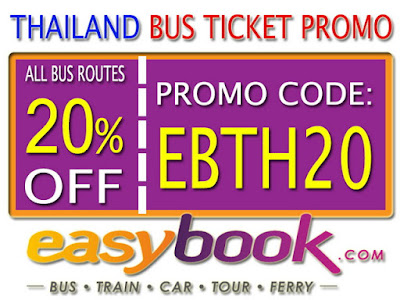 Diskon 20% Pembelian Tiket Bus Thailand Via Easybook