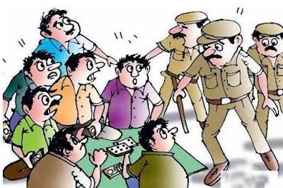 जुआ खेलते हुए करैरा पुलिस ने 5 आरोपियों सहित 11150 रुपये किये जप्त | Karera News