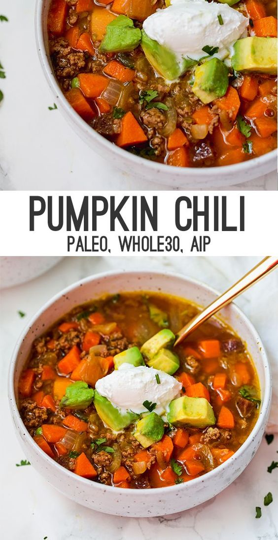 paleo pumpkin chili (aip, whole30)