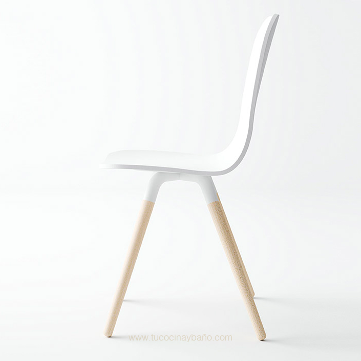 silla cocina nordica pata madera escandinava