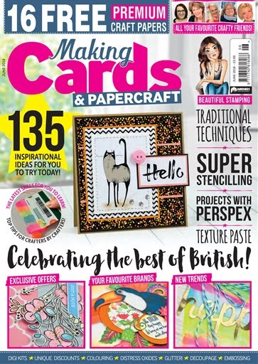 Delighted to have my work published in Making cards magazine