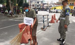 Polsek Medan Timur Bersama TNI dan Satpol PP Tindak Ratusan Warga yang Tidak Pakai Masker