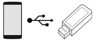 OTG Terhubung dengan USB Flashdisk