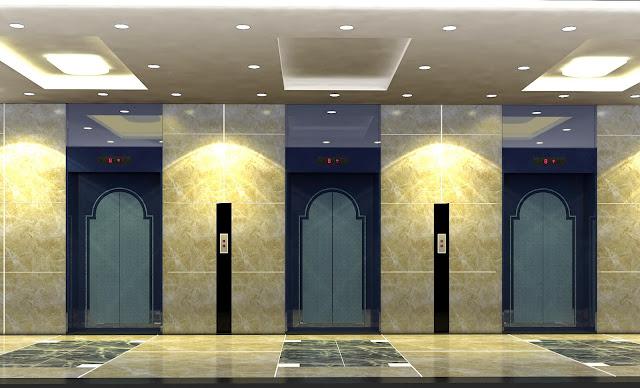 Khu vực thang máy dự án IRS GARDEN