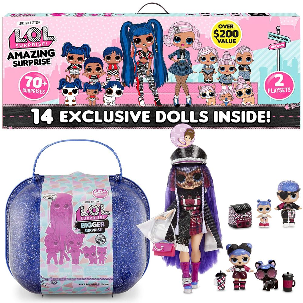 Exclusive L.O.L. Surprise O.M.G. dolls playsets with families