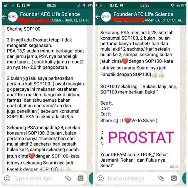 Agen Jual: SOP 100+ AFC Japan, AFC SOP 100 Malaysia dan Utsukushii Brand Review, di Kotawaringin Timur