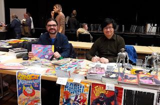 Markus Dressler und Wen-Cheng Chen von Tisch 14 auf der NEXTCOMIC Linz 2018