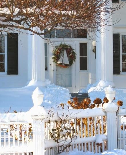 nautical Christmas front door