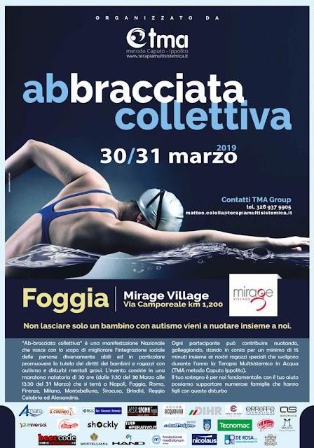 """""""L'Ab-bracciata Collettiva"""" per l'autismo al Mirage Village di Foggia"""