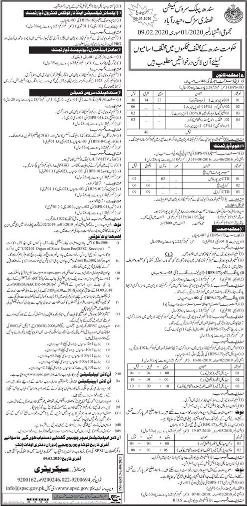 Jobs in Sindh Public Service Commission