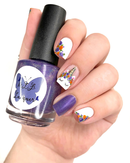 Halloween Unicorn Nails