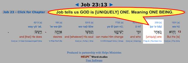 Job 23:13 But He [is]  [uniquely] one.