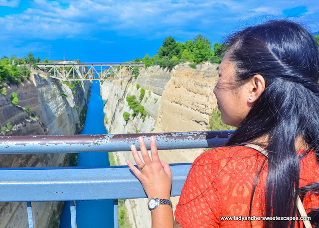 Lady in Corinth Canal