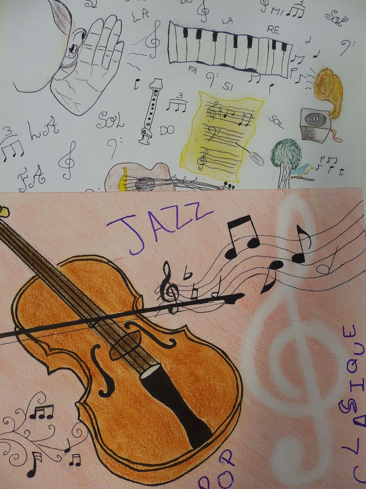 Les Arts Plastiques Au Lycee Comte De Foix Comment Je Vois La Musique