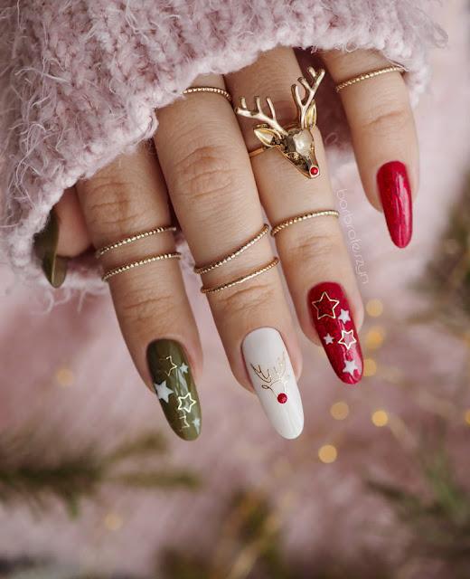 reniferowe paznokcie