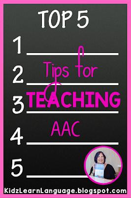 AAC teaching tips