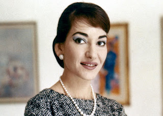 Maria Callas smiling