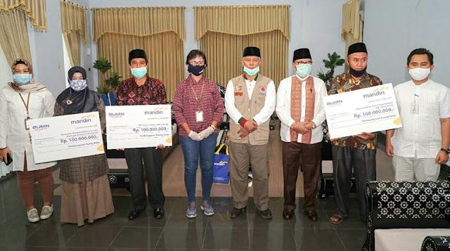 Bupati Lombok Timur Terima Bantuan CSR dari Bank Mandiri. Ini Jumlahnya...