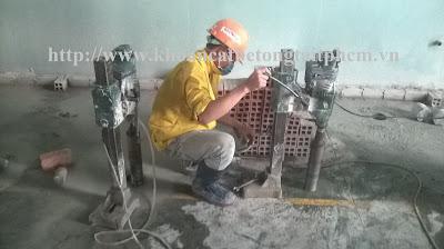 Khoan cắt bê tông tại quận Gò Vấp